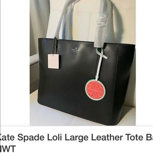 Kate Spade large leather tote with wallet NWT